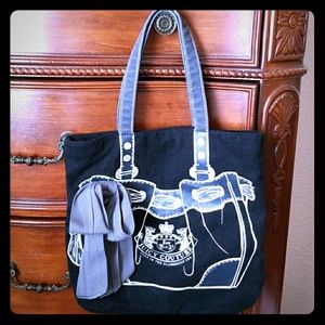 Juicy Couture canvas tote bag